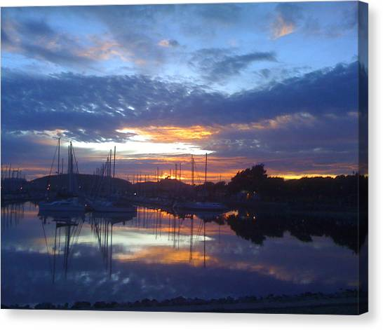 Volcanic Reflections Canvas Print