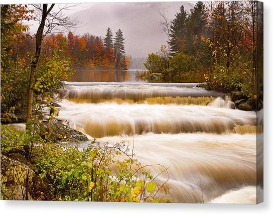 Water Fall At Lefferts Pond Canvas Print