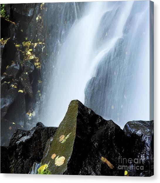 Cataract Canvas Print - Waterfall In Auvergne by Bernard Jaubert