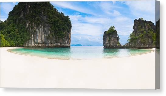 White Sandy Beach In Thailand Canvas Print