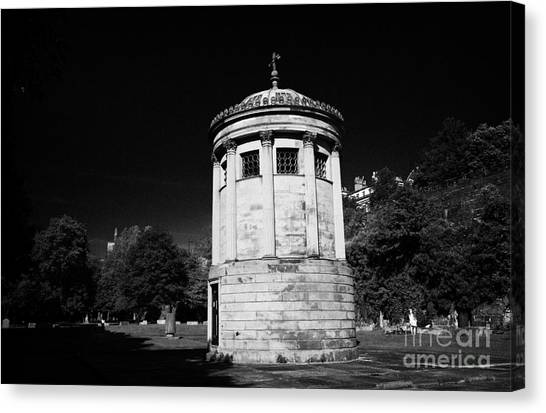 William Huskisson Memorial In St James Cemetery Liverpool Merseyside England Uk  Canvas Print by Joe Fox