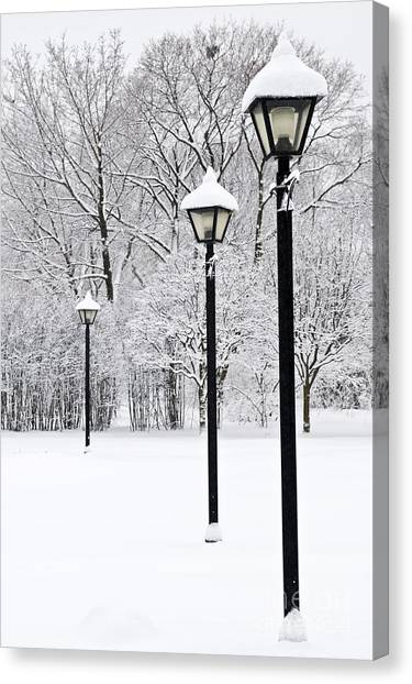Winter Scenery Canvas Print - Winter Park by Elena Elisseeva