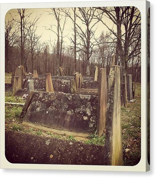 Horror Canvas Print - Witches Cemetery by Susannah Mchugh