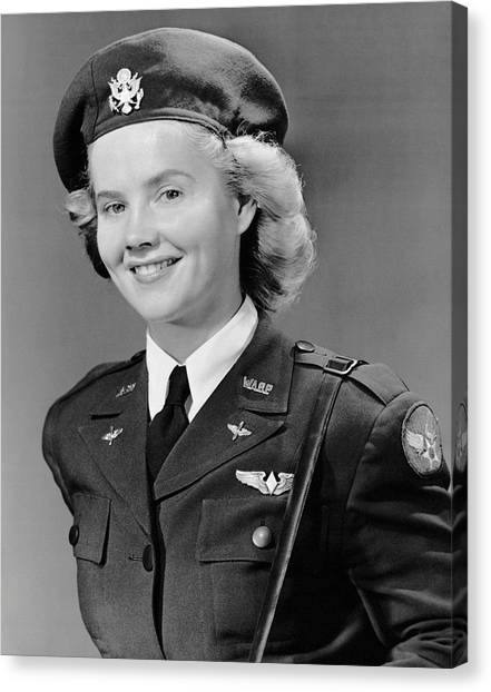 Woman In Uniform Canvas Print by George Marks