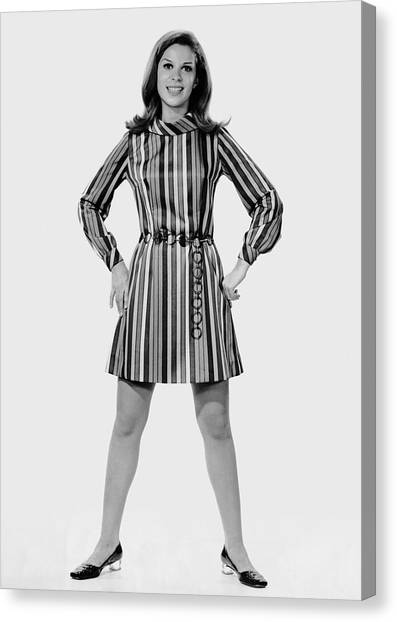 Woman Striking A Pose Canvas Print by George Marks