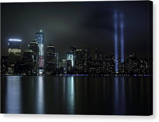 World Trade Center Memorial Lights Canvas Print