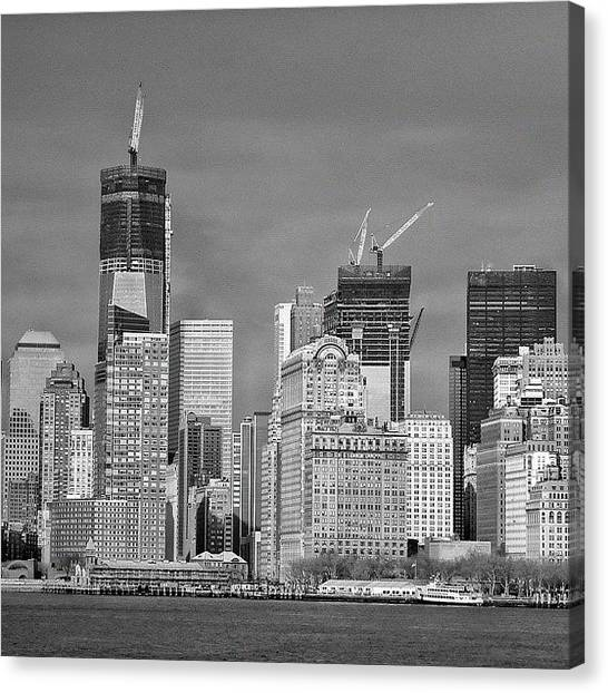 Greek Art Canvas Print - Wtc - New York by Joel Lopez
