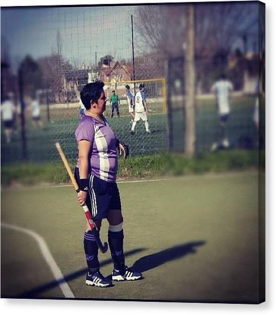Hockey Canvas Print - #art #bestoftheday #comment #followme by Gaby Mabromata