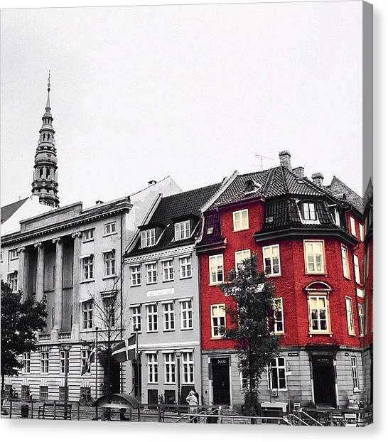 House Canvas Print - Copenhagen by Luisa Azzolini