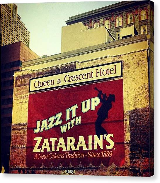 Jazz Canvas Print - Instagram Photo by Dave Bloom