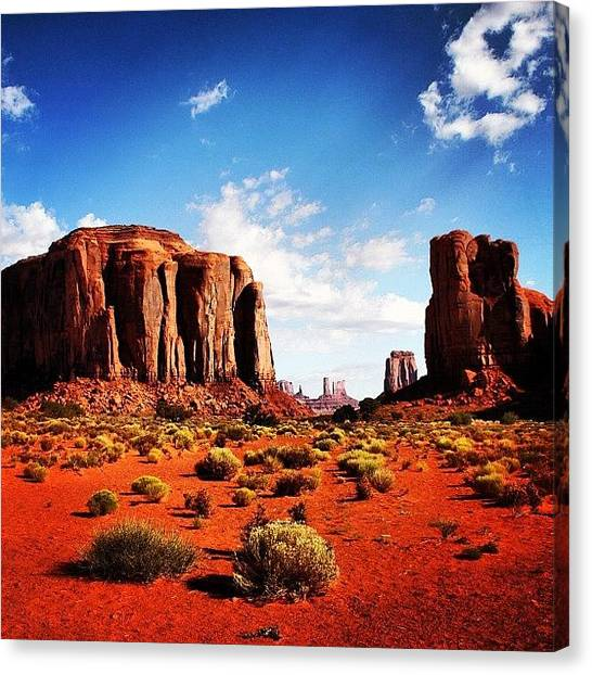Rock Canvas Print - Monument Valley by Luisa Azzolini