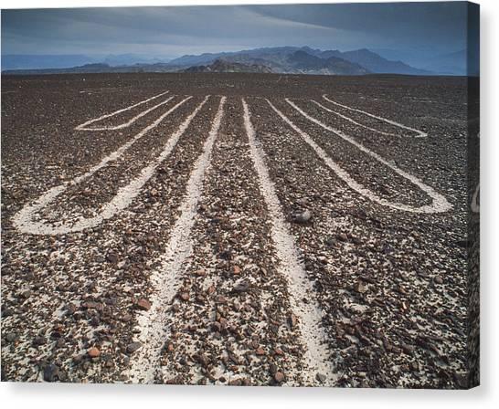 Sandy Desert Canvas Print - Nazca Lines by David Nunuk
