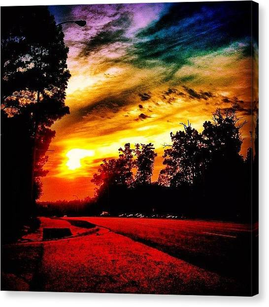 Rainbows Canvas Print - Sunset by Katie Williams