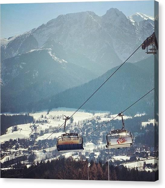 Snowboarding Canvas Print -  by Grigorii Arzhanykh