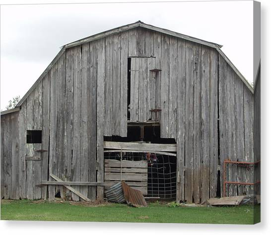 Barn Canvas Print by Ronald Olivier