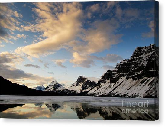 Bow Lake Canvas Print by Ginevre Smith