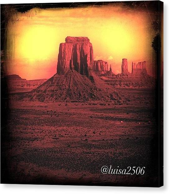 University Canvas Print - Monument Valley by Luisa Azzolini