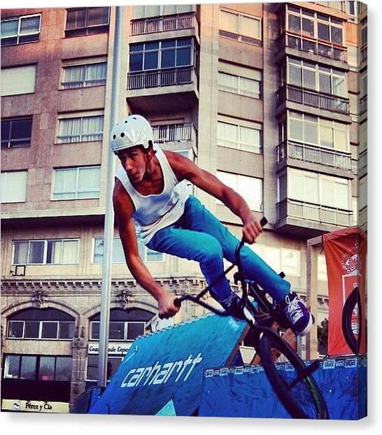 Extreme Sport Canvas Print - Bmx O Marisquiño #bmx #marisquiño by Hugo Sa Ferreira
