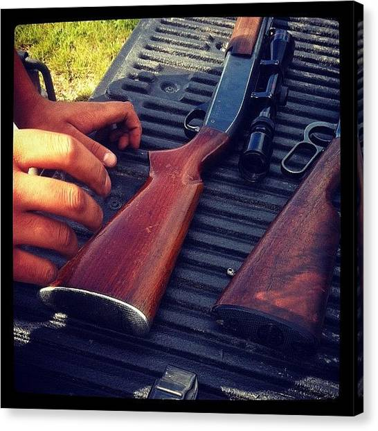 Hunting Canvas Print - 12 Gauge .308 Remington 30-30 by Sam Sana