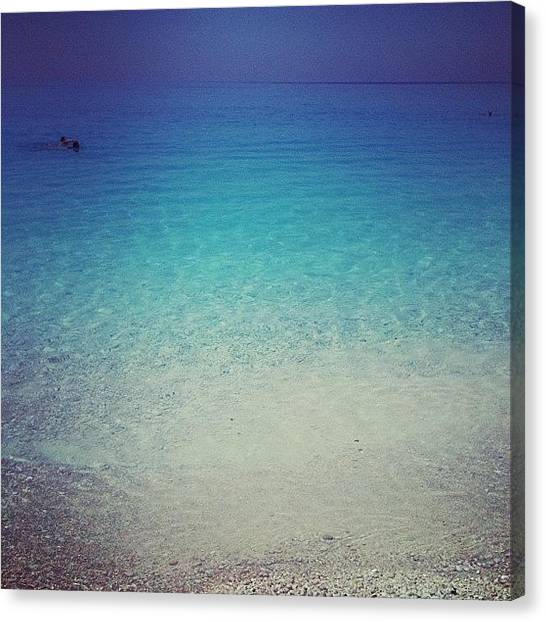 White Sand Canvas Print - Instagram Photo by Neelam Khera