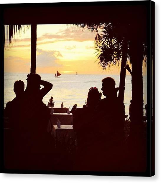 Palm Trees Sunsets Canvas Print - Instagram Photo by Ryan Kegley