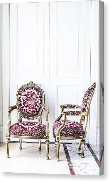 Luxury Antique Chair. Canvas Print by Chavalit Kamolthamanon