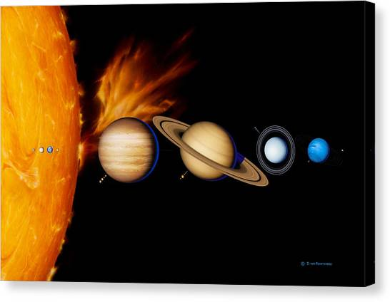 Sun And Its Planets Canvas Print by Detlev Van Ravenswaay