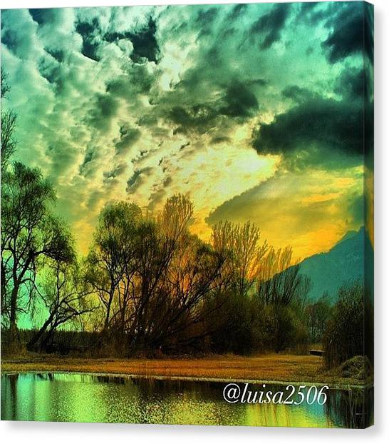 Cool Canvas Print - Sunset by Luisa Azzolini