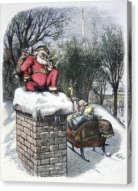 Sleds Canvas Print - Thomas Nast: Santa Claus by Granger