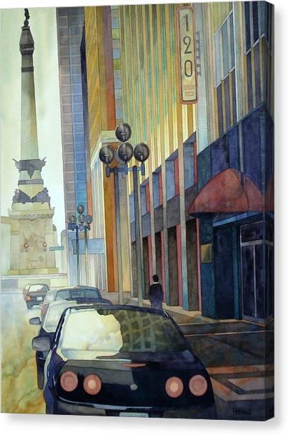 120 E Market Canvas Print by Ryan Petrow