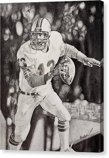 Dan Marino Canvas Print - 13 by Mike  Haslam