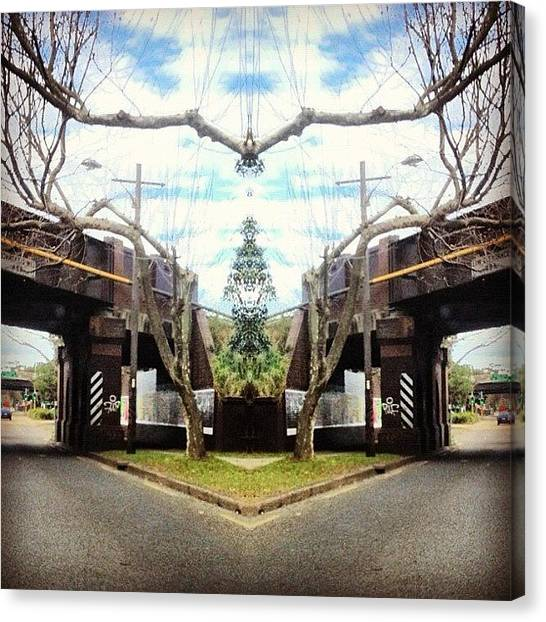 Symmetrical Canvas Print - #tagstagram .com #abstract #symmetry by Dan Coyne