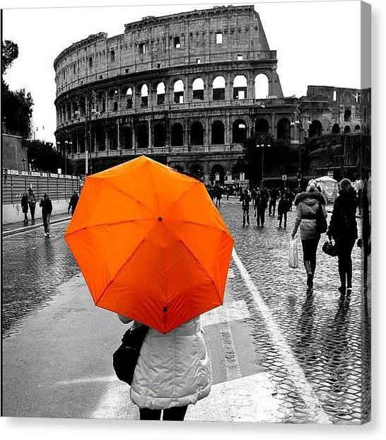 Rome Canvas Print - #ink361 #bestoftheday #instalovers_gr by Thalia Stachtea