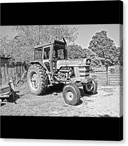 Tractors Canvas Print - #instadaily #iphonesia #iphoneography by Sherri Galvan