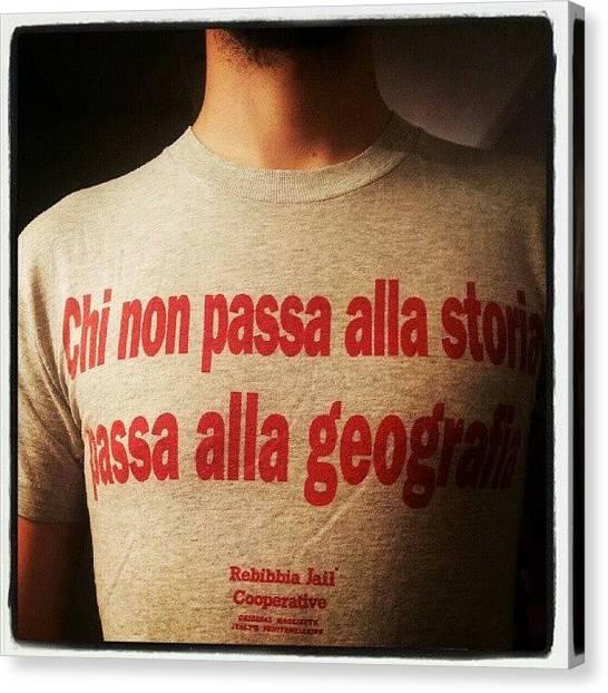 Torso Canvas Print - Instagram Photo by Enrico Di Giamberardino