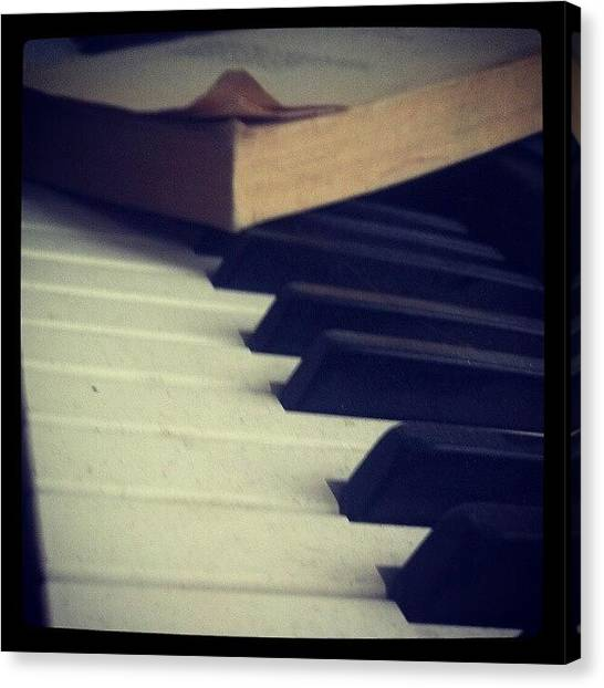 Piano Canvas Print - #snow #photography #funny #art #scenery by Adam Snow