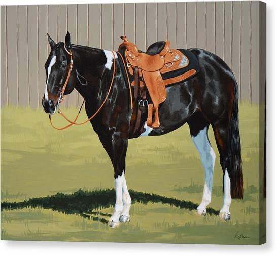 Pleasure Horse Canvas Print - Untitled  by Lesley Alexander