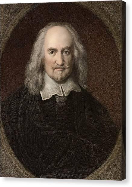Atheism Canvas Print - 1660 Thomas Hobbes English Philosopher by Paul D Stewart