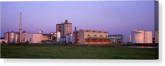 Corn Ethanol Processing Plant Canvas Print by David Nunuk