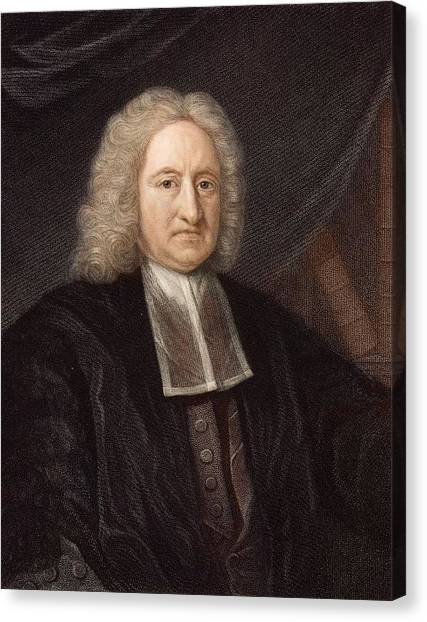 Atheism Canvas Print - 1736 Edmond Halley Astronomer & Physicist by Paul D Stewart
