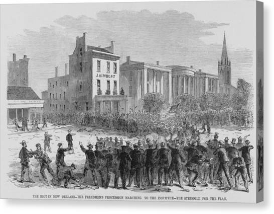 Oppression Canvas Print - 1866 Race Riot In New Orleans Was One by Everett
