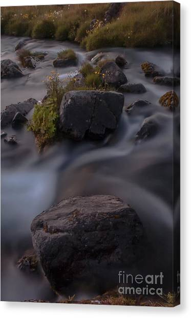 Waterfall Canvas Print by Jorgen Norgaard