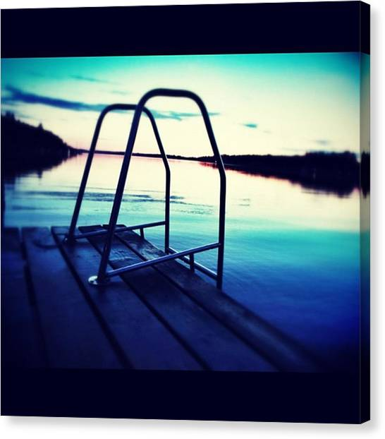 Swimming Canvas Print - Instagram Photo by Ritchie Garrod