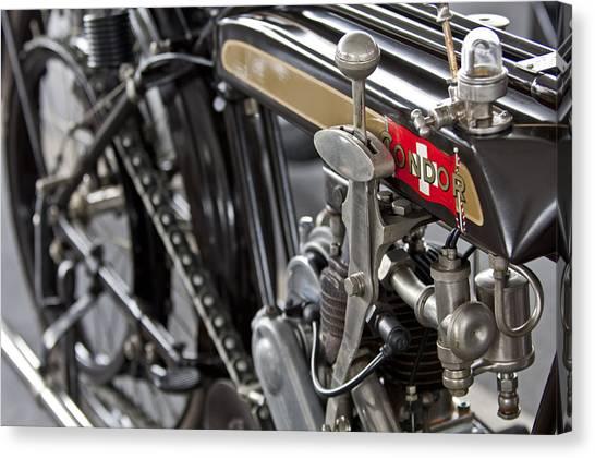 Condors Canvas Print - 1923 Condor Motorcycle by Jill Reger