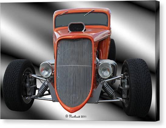 1933 Ford Roadster - Hotrod Version Of Scream Canvas Print
