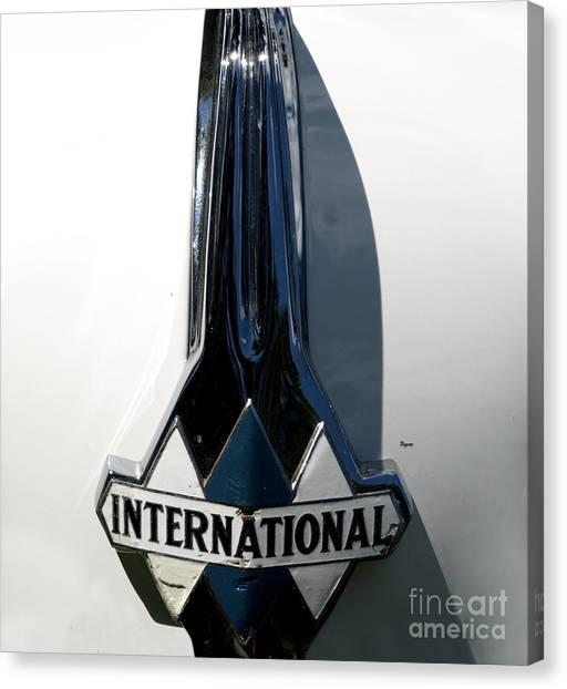 1939 International Hood Ornament  Canvas Print by Steven Digman