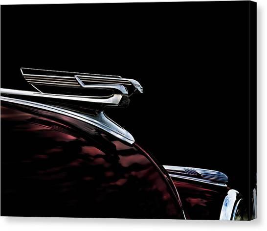 Chevy Canvas Print - 1940 Chevy Hood Ornament by Douglas Pittman
