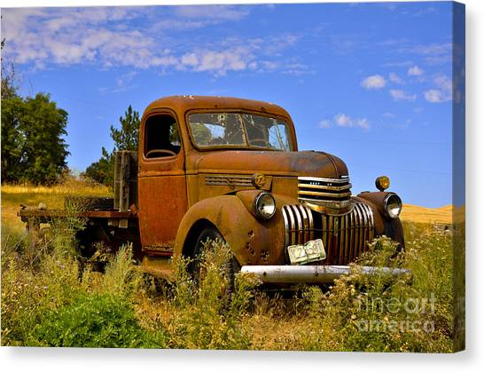 1940's Chevy Truck 2 Canvas Print by Camille Lyver
