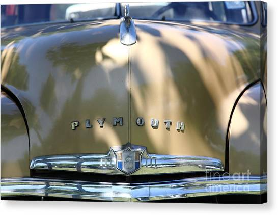 1949 Plymouth Delux Sedan . 5d16206 Canvas Print by Wingsdomain Art and Photography