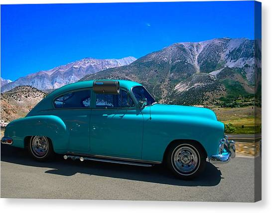 Sleds Canvas Print - 1950 Chevrolet With Window Air Conditioning by Tim McCullough